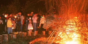 PART OF THE ANNUAL CELTIC SAMHAIN FESTIVAL AT THE SCOTTISH CRANNOG CENTRE ON LOCH TAY AT KENMORE, PERTHSHIRE. AN ANCIENT CELTIC HALLOWEEN FESTIVAL
