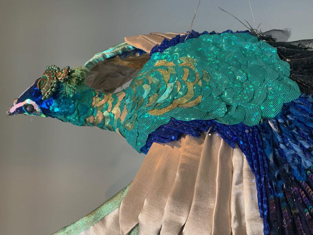 Mental health in covid: art-making....peacock!